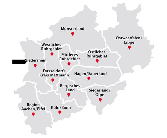 Karte Ruhrgebiet Städte.Laubbeseitigung Entsorgung Städte Nrw Gelford Gmbh